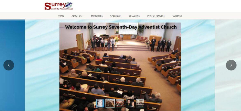 Surrey Church Web Design